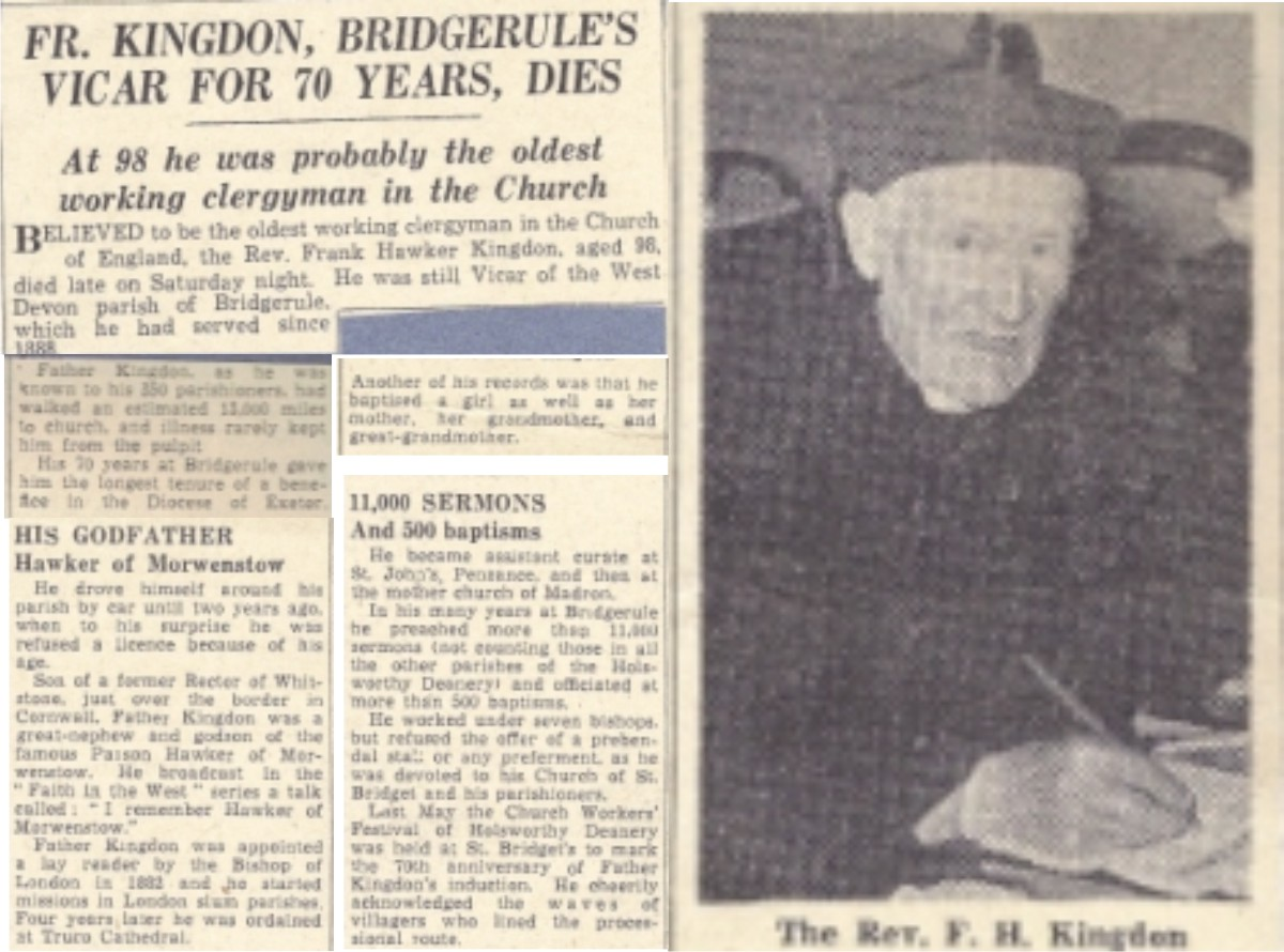Father Kingdon's Obituary